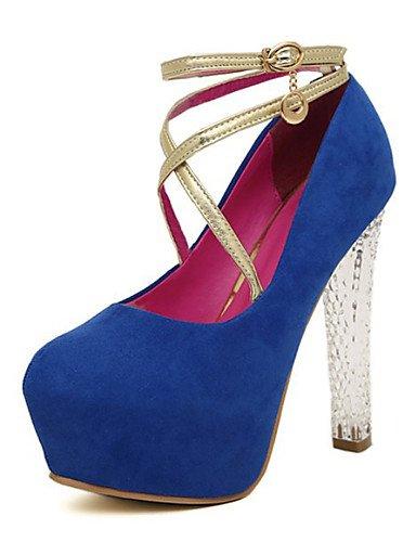 WSS 2016 Chaussures Femme-Habillé / Soirée & Evénement-Noir / Bleu-Talon Aiguille-Talons-Chaussures à Talons-Daim blue-us7.5 / eu38 / uk5.5 / cn38