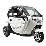 VELECO 3 Rad Elektrisches Fahrzeug Elektromobil Elektroroller Elektroauto 2 Personen 1500W 45 km/h Weiß
