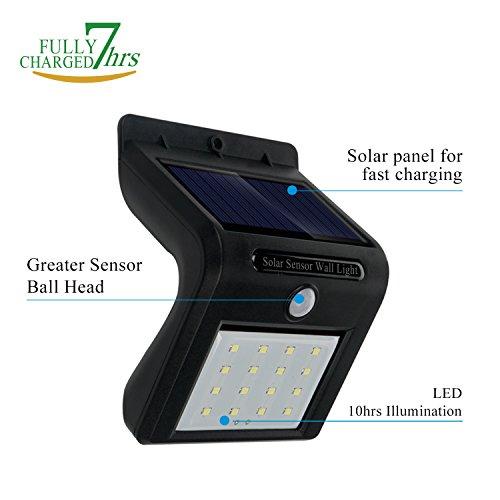 Reachope Lampe Solaire Jardin 16 LED 4 Pack - Lampe Extérieur Etanche sans  Fil Détecteur de Mouvement 120° Grand Angle pour Jardin, Terrasse, ...
