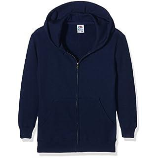 Fruit of the Loom Mädchen Sweatshirt Kids Classic Hooded Sweat Jacket, Blau (Dark Navy), Herstellergröße: 9/11 años (140 cm)