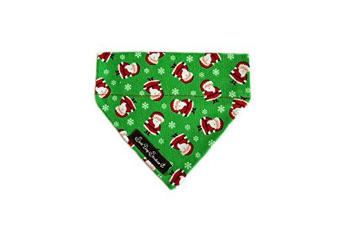 Salt Dog Studios Santa Paws Halstuch für Hunde, für Weihnachten, groß