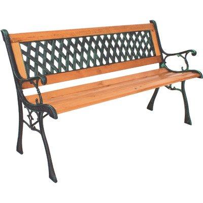 Windsor Metall und Hartholz Gartenbank aus Metall, Hartholz Mix und PVC Rückenlehne pulverbeschichtet Finish Kapazität: bis 280kg Holz Bistro Patio Set