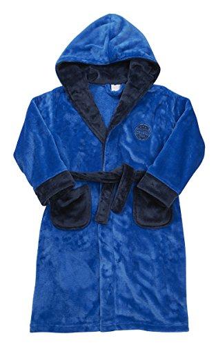 Enfant Garçon Football NouveautéÀ Capuche Peignoir Robe De Chambre Âges Des Vêtements De Nuit 2-13 - Bleu Roi, 9-10 Ans