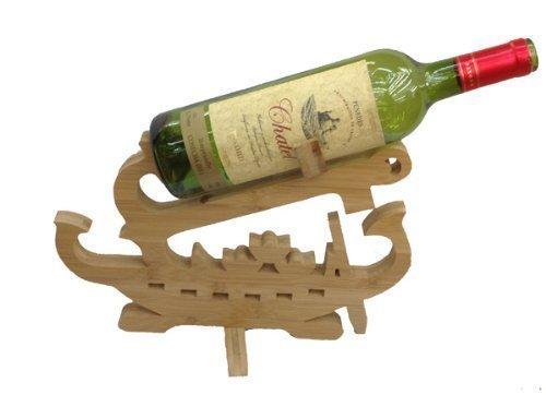 Design Weinflaschenhalter Schiff Weinständer Flaschenständer Weinregal Flaschenhalter Bambus...