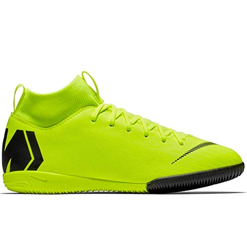 Nike Unisex-Kinder Jr. Mercurial Superfly VI Academy IC Multisport Indoor Schuhe, Schwarz (Volt/Black 701), 35.5 EU -