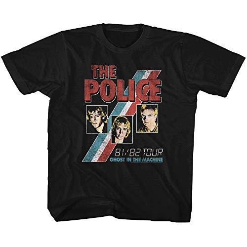 The Police Rock Band Ghost in The Machine Playera para bebé - Negro - 4 años