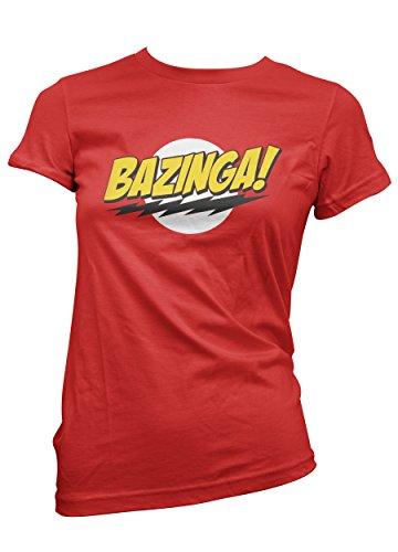 T-SHIRT BAZINGA - ROSSA - DONNA