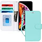 """Fyy iPhone XR Case, iPhone XR Wallet Case, Handmade Wallet Case Stand Cover Credit Card Protector for Apple iPhone XR 6.1"""" (2018) Mint Green"""