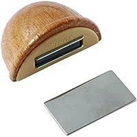 Brinox B78280Y - Tope retenedor de madera con imán, 4,8 x 3,6 x 2,5 cm, color roble
