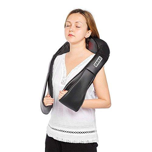 InLife Masajeador de Cuello y Hombros Básico, Masajeador Cervical, Amasado Profundo, Masajeador con Calor para las Personas con Duelo de Hombro, Cuello, Espalda, Ideal para Trabajadores, Relájese en Oficina, Hogar, Registrado por la FDA