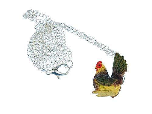 gallina-collar-cadena-miniblings-gallina-granja-farm-gallo-pendientes-multicolor-60cm