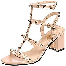 8c9422e76c8 Chaussures Femme Talons Chic Sangle de Boucle Cheville Pas Cher Talons  Soiree de Sandales Youngii