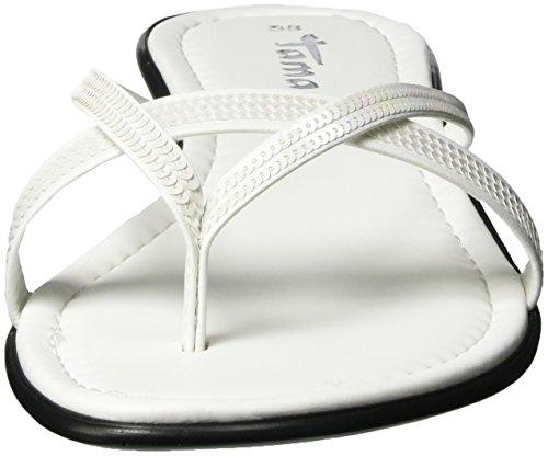 Tamaris 27107, Sandales  Femme Blanc (White 100)