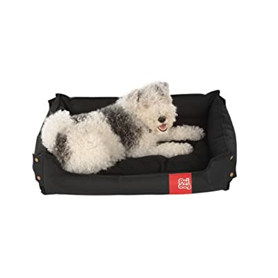 Poi Dog® Collapsible Dog Bed - BLACK Dog Beds for Home or Travel - Pet Beds