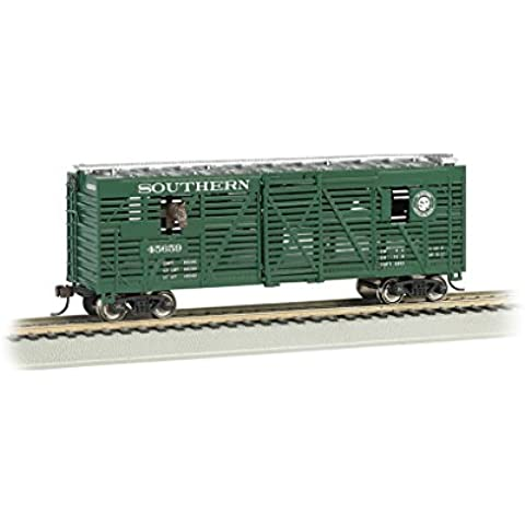 Bachmann 40' Animated Stock Car - SOUTHERN with HORSES - HO Scale