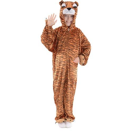 Tier-Kostüm für Kinder Boogie-Woogie Tiger, Gr. S (Tier Ideen Kostüme Wildes)