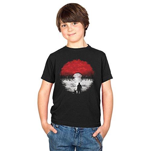 Texlab Poke Skyline Logo - Kinder T-Shirt, Größe M, Schwarz
