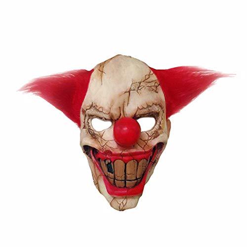 LIULINAN Halloween-Maske Beängstigend Maske Gruselige Clown-Maske Halloween Christmas Horror Latex Maske Horror-Clown Wig
