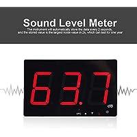Sonomètre Professionnel Testeur de Mesure avec Seuils d'Alarme Fixés Décibelmètre Numérique LCD Portable 30-130dB Testeur de Bruit