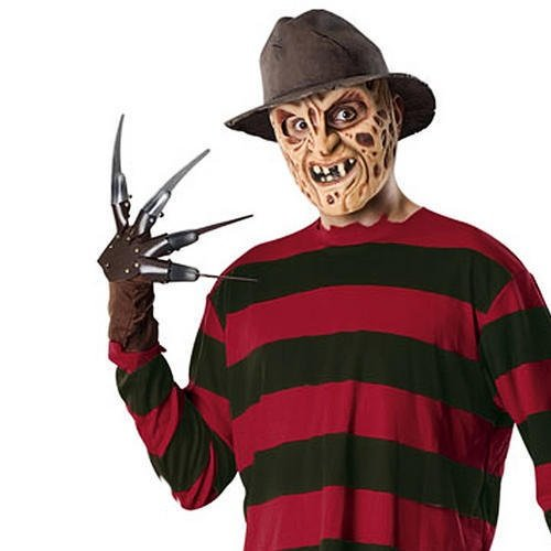Freddy Krueger Männer Fancy Dress Halloween Horror Kostüm Adult Outfit (Jahre Halloween 9 Kostüme Alt)