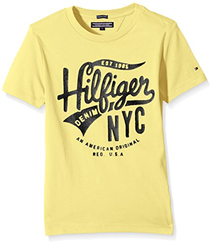 tommy-hilfiger-logo-cn-tee-s-s-camiseta-para-nios-color-amarillo-80-cm