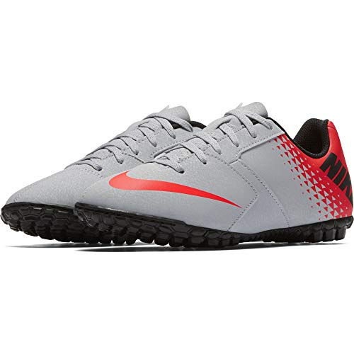 Nike Jr Bomba Tf, Scarpe da Calcetto Indoor Unisex-Bambini, Multicolore (Wolf Grey/Black-Bright Crimson 006), 36.5 EU
