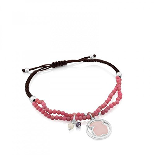 TOUS Armband Camille aus Silber und Rhodonit mit Rosenquarz, Iolith und Perle 712161620 (Tous Armband Perle)