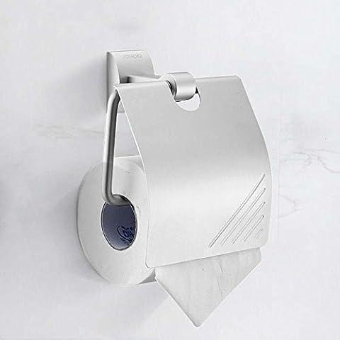 XIAOMINZI Carta Igienica Titolare Ossidazione Contemporanea Parete Montato 150Mm*84Mm*160Mm(6*3*6Inch) Bagno Accessori Alluminio Contemporanea Carta Velina Rack Porta Rotolo