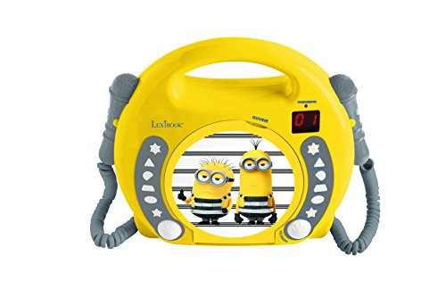 Lexibook RCDK100DES Despicable Me Minions Radio 2 Mikrofonen, Kleinkind CD Player