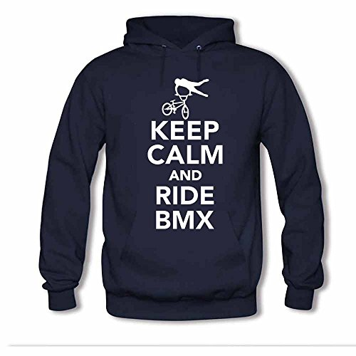 BMX Keep Calm and Ride Women's Pure Cotton Hoodies L