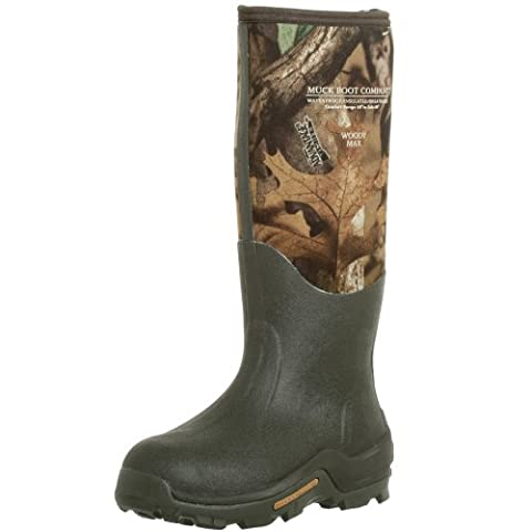 The Original MuckBoots Unisex Woody Max Boot,Mossy Oak Break-Up Camo,Men's 9 M/Women's 10 M