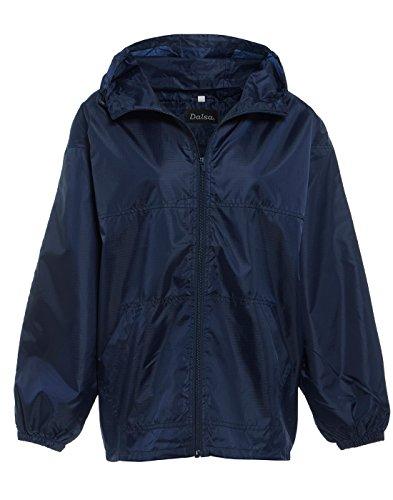 New Women's Raincoat Hooded Lightweight Rain Showerproof Jacket Mac