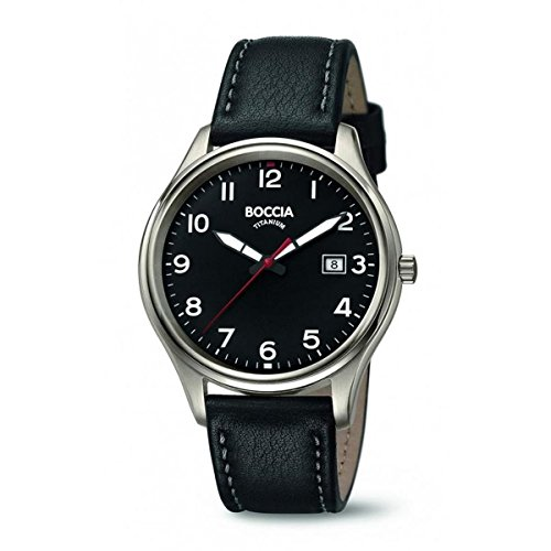 Boccia Reloj Analogico para Hombre de Cuarzo con Correa en Cuero 3587-05