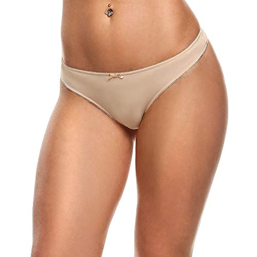 Rinalay Frauen G String Slip Schmetterlings Stickerei Hohle Einfache Transparente Reizvolle Unterhosen Mode Living Bequem Weiches Atmungsaktiv Panty Tanga (Color : 3 Colour 3, Size : 40) - 3