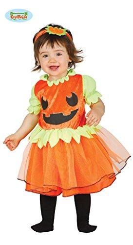 Baby Kürbiskostüm Kostüm Kürbis für Kinder Halloween Babykostüm orange Gr. 86-98, Größe:86/92 (Niedliche Kleine Mädchen Kostüme)