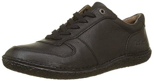 Kickers Home, Zapatos de Cordones Derby para Mujer, Negro Noir 81, 38 EU