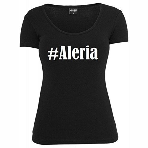 T-Shirt #Aleria Hashtag Raute für Damen Herren und Kinder ... in den Farben Schwarz und Weiss Schwarz