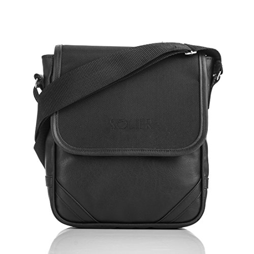 Solier Sacchetto del ridurre in pani del iPad del sacchetto del messaggero del sacchetto di spalla degli uomini del soldato S07 / S08 (S07) S07