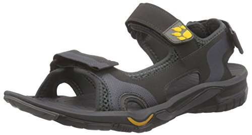 Jack Wolfskin LAKEWOOD CRUISE SANDAL M, Herren Sport- & Outdoor Sandalen, Grau (burly yellow 3800), 42 EU (8 Herren UK)