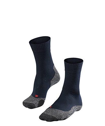 FALKE TK2 Damen Trekkingsocken / Wandersocken - blau, Gr. 37-38, 1 Paar, extra starke Polsterung, Merinowolle, feuchtigkeitsregulierend