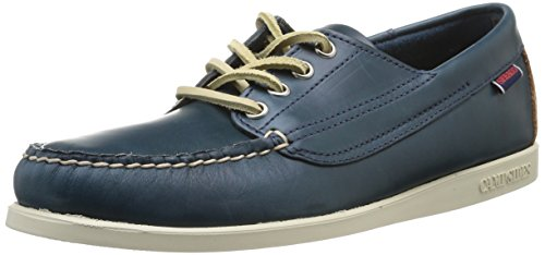 Sebago Campsides Scarpe Brogue Stringate, Uomo, Multicolore (Dark Blue/Tan), 45