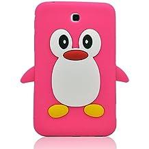 """Tsmine 3d pingüino Caso Rose Pink Samsung Galaxy Tab 3 7"""" Tablet"""