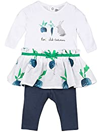Catimini Baby Girls' Robe ML+Legging Party Dress