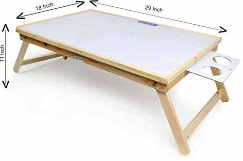 Ekta Product Wooden Folding Laptop Table with Whiteboard Big White