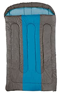 Coleman Sleeping Bag Hudson Double, Rectangular Double Sleeping Bag, Indoor & Outdoor, 2 Season, Warm Filling, for 2 Adults, 235 x 150 cm, Comfort Temperature +7° C