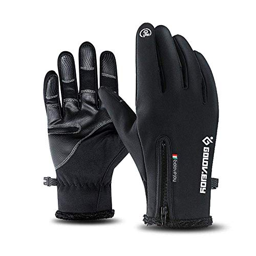 Jamisonme Climbing 2018 Mens Winter Waterproof Warm Fur Gloves Touch Screen  Gloves Cycling Gloves Running Hiking 8f94d8735e1d