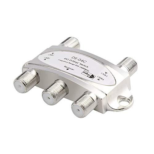 4 1 4 x 1 DiSEqc 4 vías Banda Ancha Interruptor DS-04C