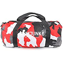 Gymjunky Duffle Bag Camo Red - Gym Training Fitness Sport