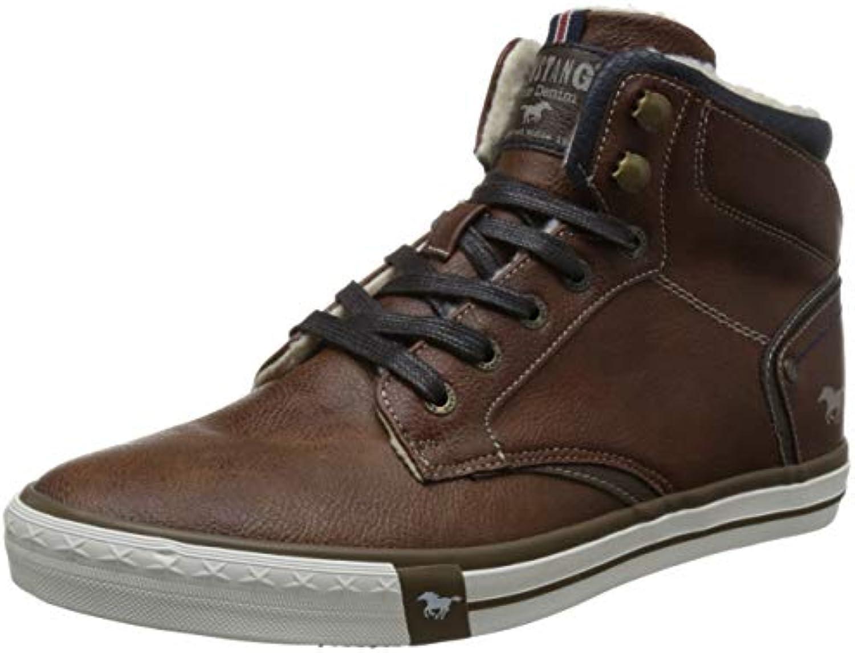 Mustang 4072-602-301 scarpe da ginnastica a Collo Alto Uomo, Marronee (Kastanie 301) EU | Tocco confortevole  | Uomo/Donne Scarpa