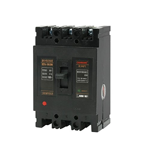DealMux AC 380V 100A 3 Pole 3P MCCB Moulded Case Circuit Breaker DZ15-100 / 390 -